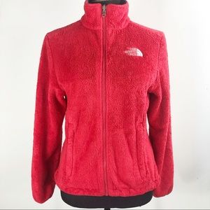North face jacket size xs red
